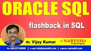 flashback in Oracle | Oracle SQL Tutorial Videos | Mr.Vijay Kumar