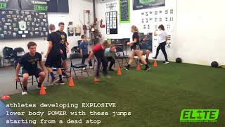 Athletes Developing POWER with these Seated VJ's Over Cone