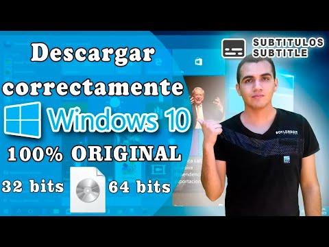 Descargar WINDOWS 10 correctamente 100% ORIGINAL 32 bits y 64 bits en imagen iso