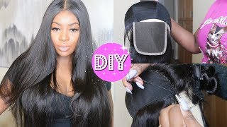 HOW TO MAKE A LACE WIG | EASY + BEGINNER FRIENDLY! | WEST KISS HAIR(Aliexpress)
