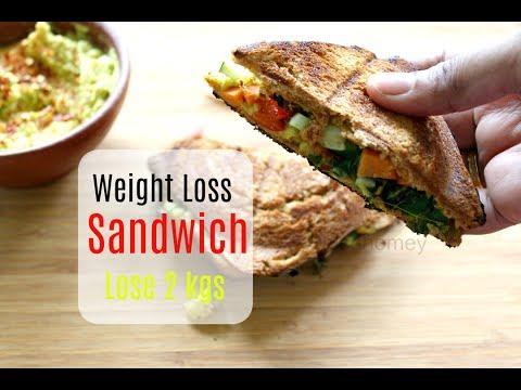 Lose 2 kgs In A Week – Weight Loss Veg Sandwich – Healthy Indian Breakfast Ideas/Recipes