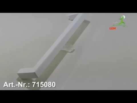 Möbelgriff Dassel, Schlicht, Kunststoff glasiert - Weiß hochglanz - Art. Nr.: 715080