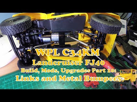 WPL C34 Metal Front- and Rear Bumpers - nice!