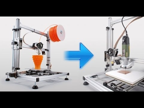 How to Transform your 3Drag 3D Printer in a CNC milling