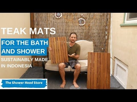 Demo: Grade A Teak Bath Mats Sustainably Made in Indonesia