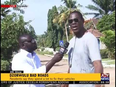 Dzorwulu Bad Roads - AM Show on JoyNews (4-10-18)