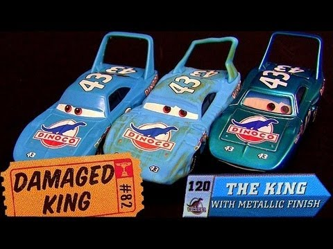 Disney Cars The King Damaged With Metallic Finish Chase RaceoRama Disney Pixar By Blucollection