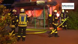 Imbiss in Stendal brennt aus