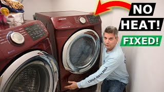 Dryer Won't Heat Up Or Dry Clothes - DIY How To Fix Heater