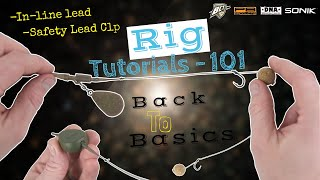 """Carp Fishing """"How To"""" Tutorial   Inline Lead & Safety Lead Clip Set Up"""
