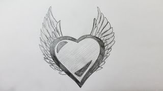 Comment Dessiner Un Coeur Avec Des Ailes