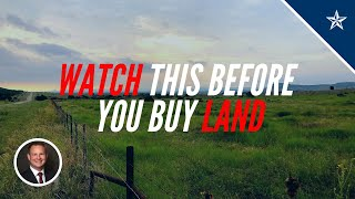 10 THINGS TO KNOW BEFORE BUYING LAND