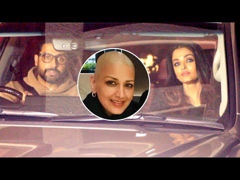 Aishwarya Rai And Abhishek Bachchan Visit Sonali B