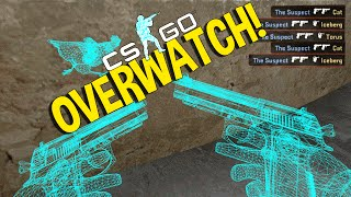 CS GO SPIN BOT HACKER - OVERWATCH FUNNY MOMENTS