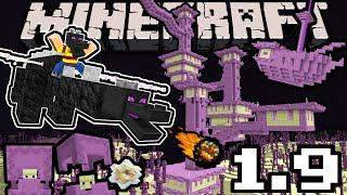 Minecraft 1.9 Snapshot: Dragon Update, Shulker, End City Sky Ship, New Blocks, Arrows, Dual Wield