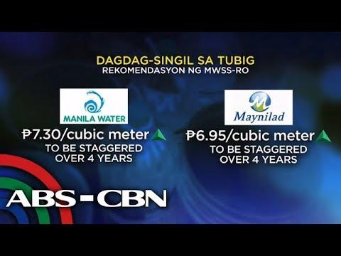 [ABS-CBN]  Taas-singil sa tubig, nakaamba; 'maaaring magsimula sa Oktubre'