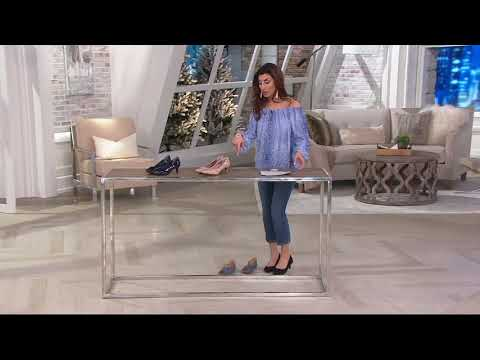 Rockport Total Motion Patent or Suede Kitten Heel Pumps on QVC