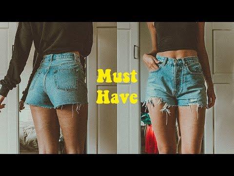 die einzige Shorts, die du brauchst || DIY Distressd Jeans Shorts | Kann jeder schaffen, wirklich.