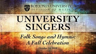 """Folk Songs and Hymns: A Fall Celebration""  