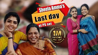 Sheela Amma's Last Day With Pandian Stores Team | Making of Death Scene | Hema's Diary