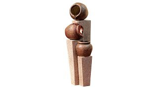 "Three Urn and Pillar Cascade35 1/2""H Outdoor/Indoor Fountain"
