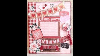 Kissing Booth Mini Album Tutorial Part 2 Decorating & Embellishing the Album