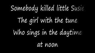 Little Susie - Michael Jackson Lyrics (on Screen)