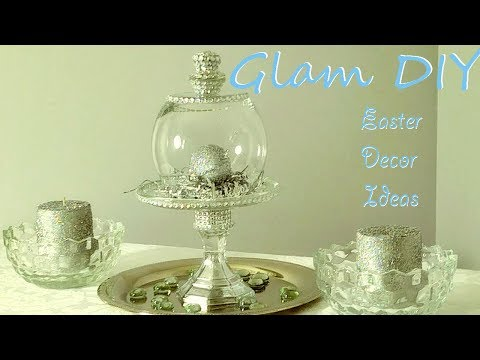 Dollar Tree DIY Glam Bling Cloche Easter Centerpiece Ideas play