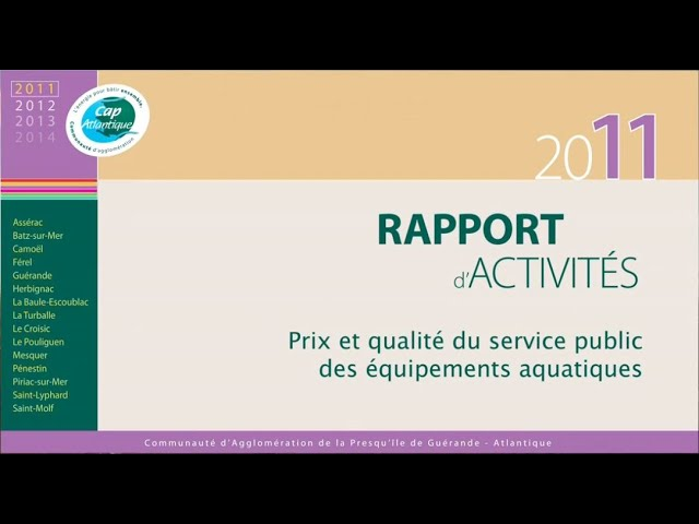 Rapport annuel Déchets 2011