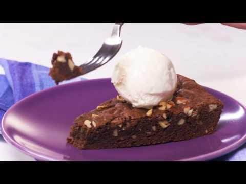 Chocolate Pecan Skillet Cookie