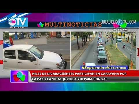 Gigantesca caravana sandinista demanda Paz y Justicia en calles de Managua