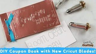 Using Cricut Maker Blades To Make A Coupon Book