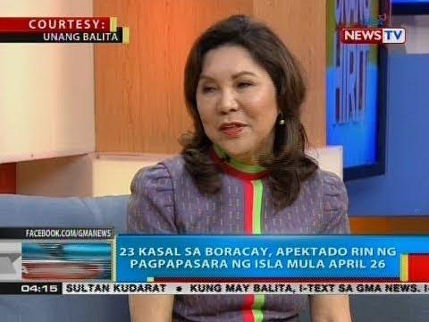 [GMA]  BP: 23 kasal sa Boracay, apektado rin ng pagpapasara ng isla mula April 26