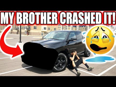 My Brother Crashed My BRAND NEW TRUCK!! You Won't Believe This  ‍♂️