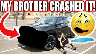 My Brother Crashed My BRAND NEW TRUCK!! You Won't Believe This  ♂️