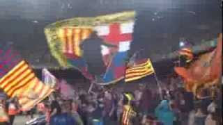 preview picture of video 'Barca - Valladolid 4:1 - Camp Nou - 5.10.2013 - Sector Goal South Down - Penya Almogavers'