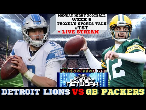 Week 6 Detroit Lions AT Green Bay Packers: Monday Night Football Game Audio/Score Only