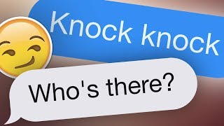 12 Hilarious Knock Knock Jokes Text Messages [No Voice]