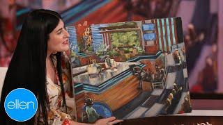 Artist Paints Ellen Show Set Live!