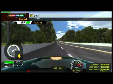 rFactor Test Telemetry Real Time - Acura Arx-01 @ Zolder