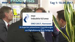industrie 4.0 Area auf der EMO Hannover - Tag 1, 18.09.2017