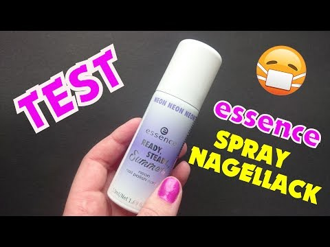 essence neon nail polish spray Test DEUTSCH | Spray Nagellack dm