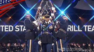 U.S. Army Drill Team Awesome Performs - Celebrating America