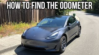 How To Find The Odometer on a Tesla Model 3