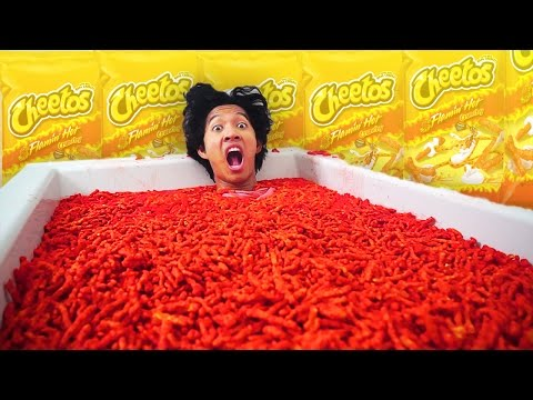 HOT CHEETOS BATH CHALLENGE