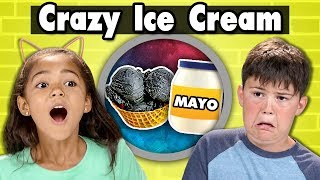 KIDS TRY CRAZY ICE CREAM (Mayo, Charcoal, Hot Cheetos)