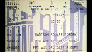 AC/DC - Safe in New York City - Madison Square Garden New York August 25, 2000
