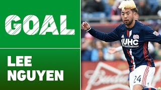 GOAL: Lee Nguyen bangs a shot off the post and into the net by Major League Soccer
