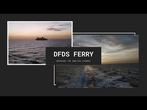 Crossing the English Channel with DFDS ferry service.