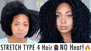 HOW I STRETCH MY TYPE 4 Natural Hair   NO HEAT + RETAIN LENGTH